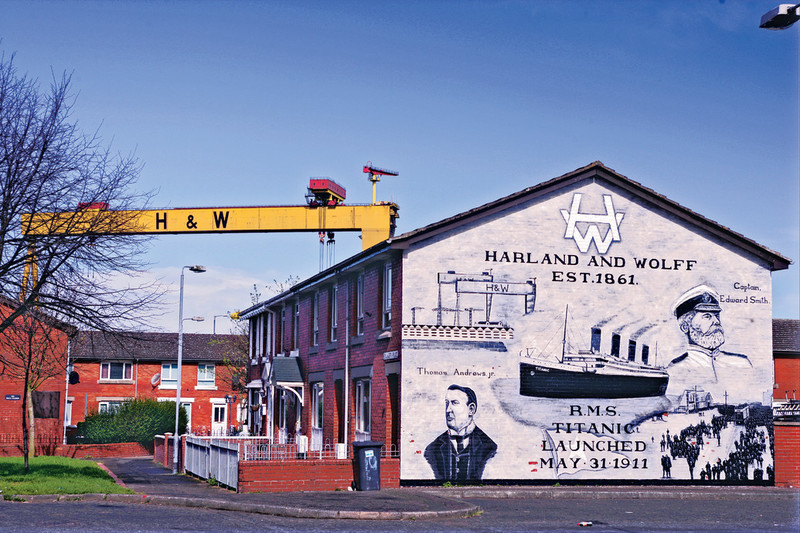 Harland and Wolff Mural Newtownards Road