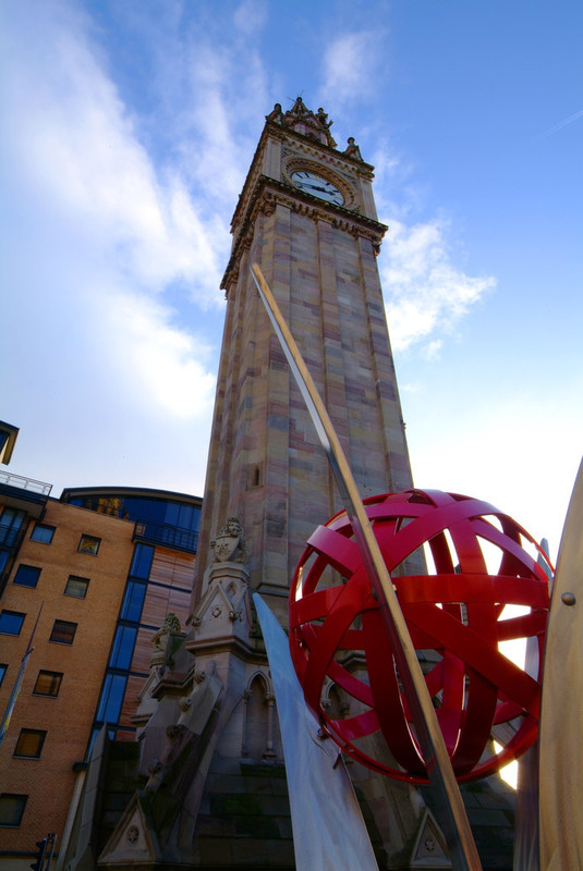 Albert Clock and sculpture