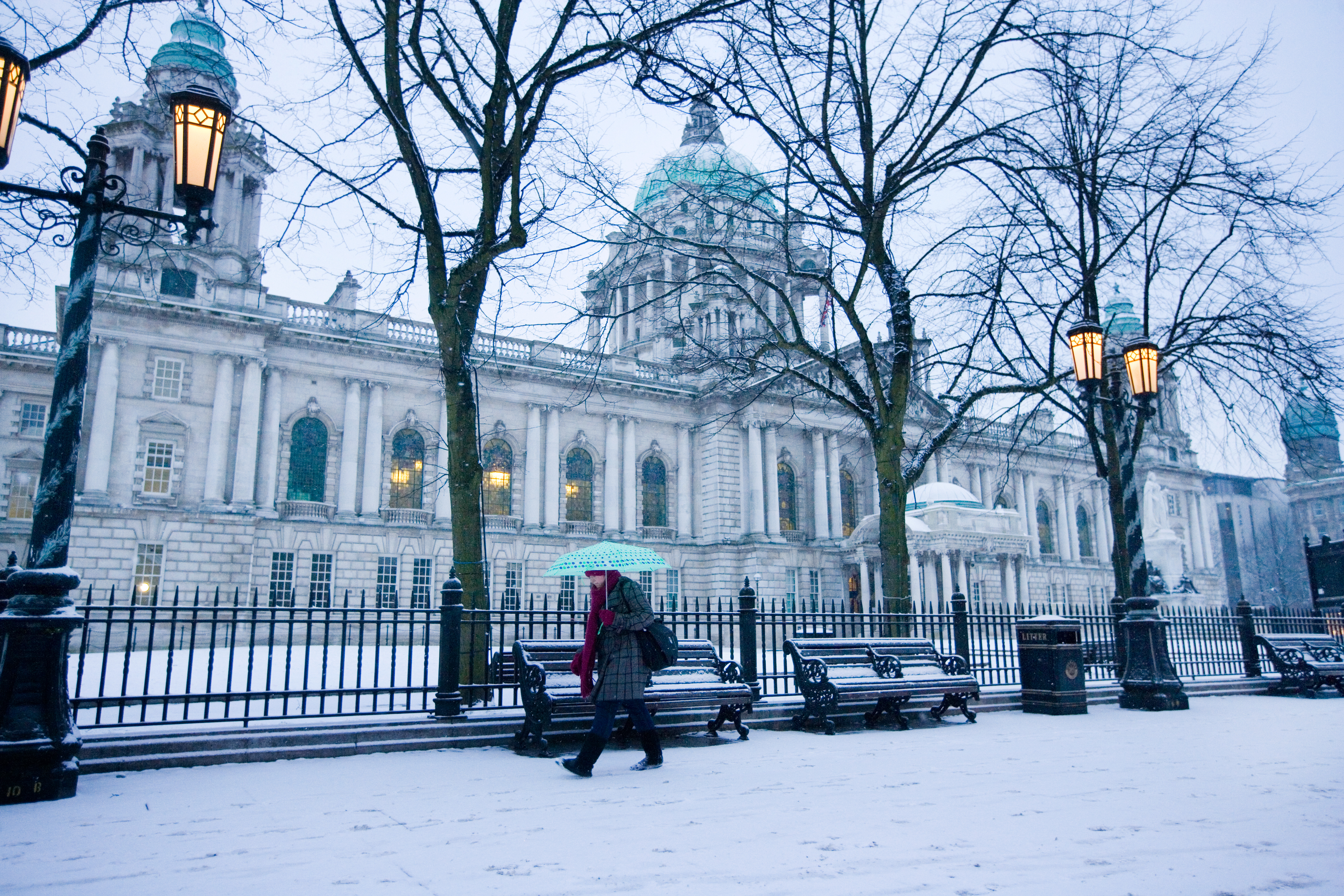 Winter at Belfast City Hall