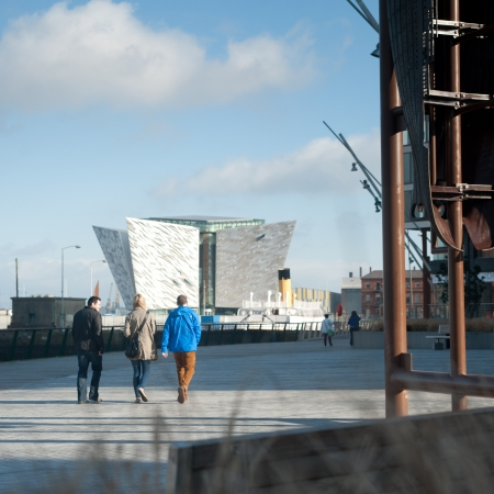 Titanic Belfast Building and SS Nomadic