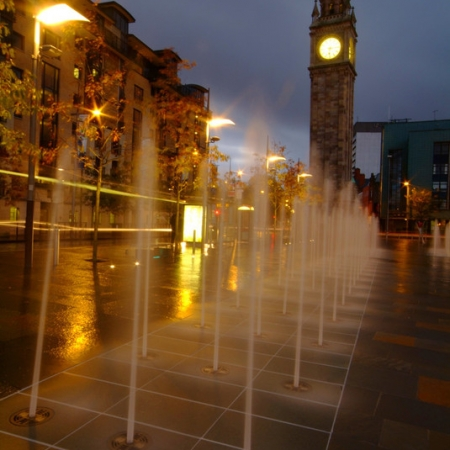 Albert Clock and fountains