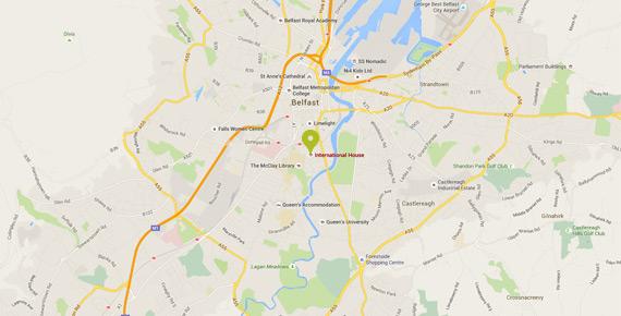 belfast-map - International House Belfast
