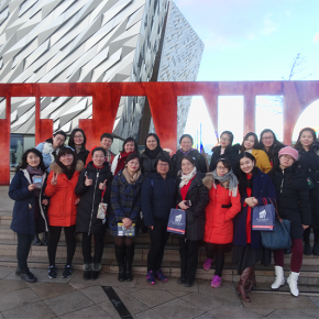 Pudong exchange group doing CELTA course taster. Education exchange in NI schools.