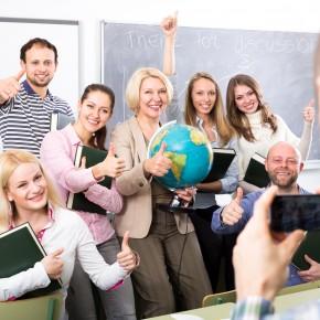 group students work together CELTA