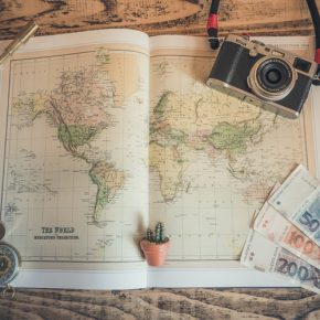 Is A Celta course Worth The Money Photo of map and cash for travelling teachers